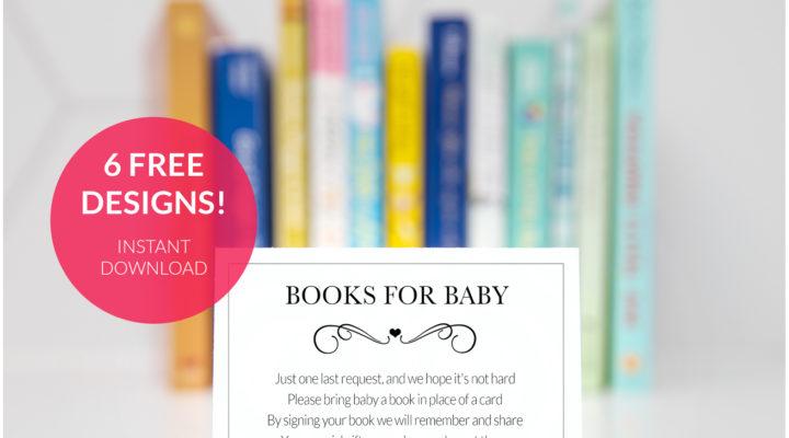 free baby shower insert card