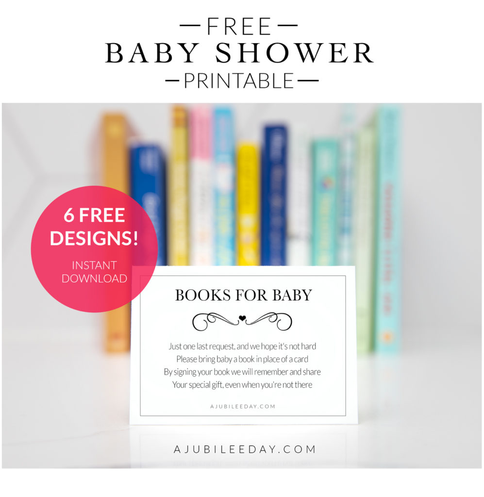 free baby shower insert card