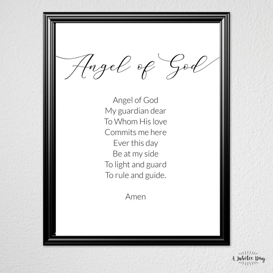 graphic relating to Guardian Angel Prayer Printable referred to as Prayer Poster: Parent Angel